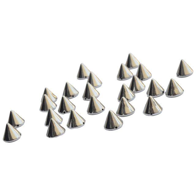 Buy 1 Get 1 FreeSilver Cone Shaped Metallic Beads