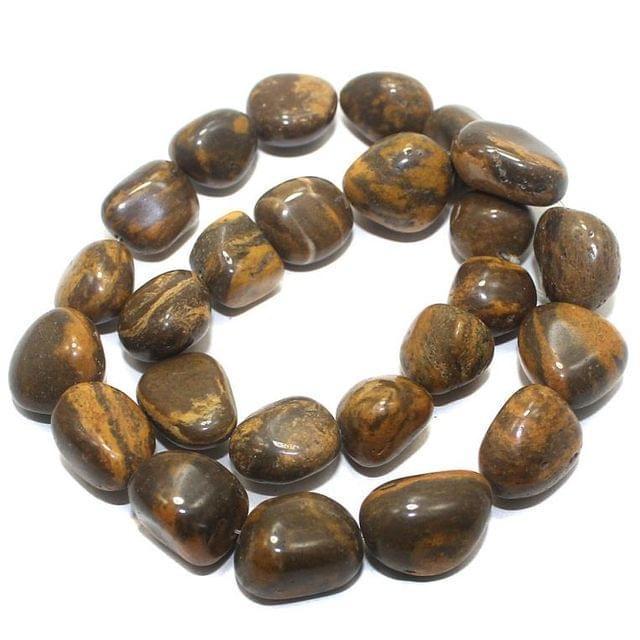 20+ Tumbled Gemstone Brazilian Agate Beads 16x12mm