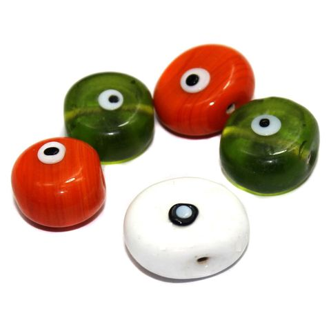 10 Bump Eye Beads Assorted 18-20mm