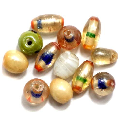 130+ Glass Beads AB Assorted 8-12mm