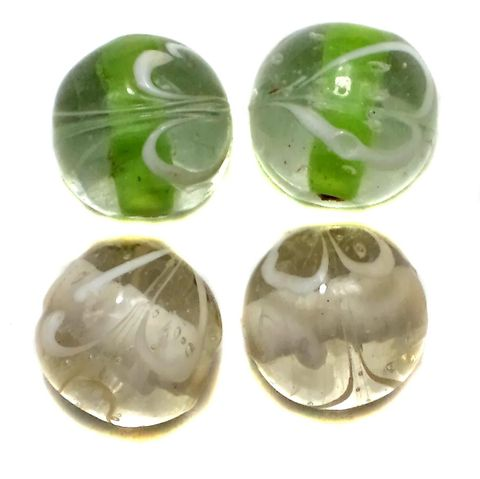 20+ Swirl Round Beads Inside Color Assorted 16mm
