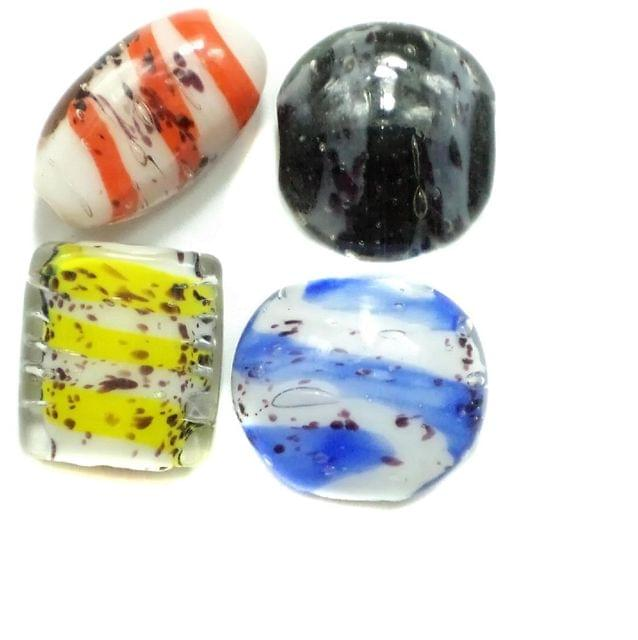 30 Fancy Beads Assorted 10-35mm