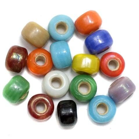 270+ Metallic finish Crow Beads Assorted 6x8mm