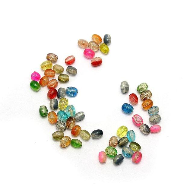 2600+ Crackle Oval Beads Assorted 6x4mm