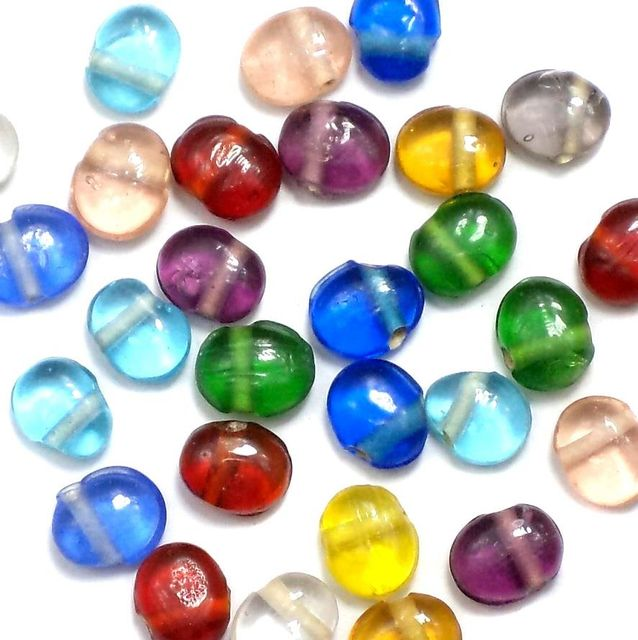 250+ Latkan Beads Assorted 6-8mm