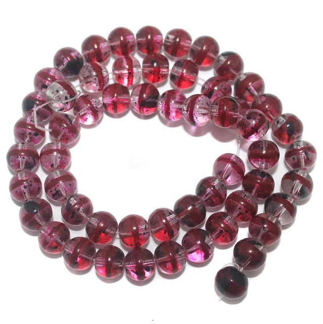 50+ Glass Round Beads Multicolor 8mm