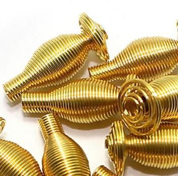100 Metal Golden Spring Beads 16x6mm