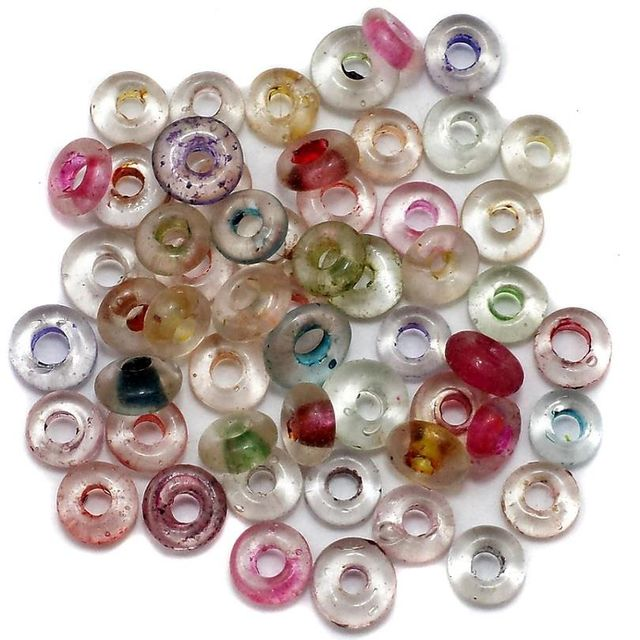 750+ Donut Beads Inside Color Assorted 8mm