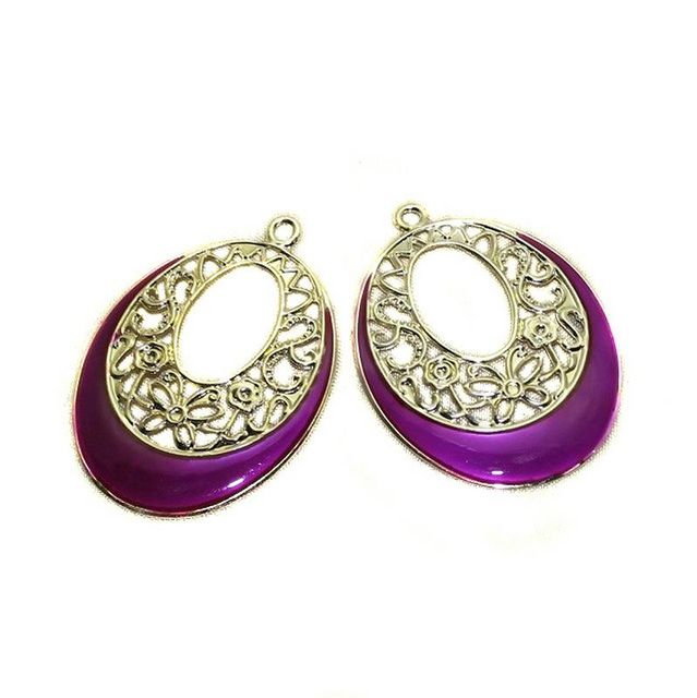 3 Pair Ear Ring Component Golden 47x35mm
