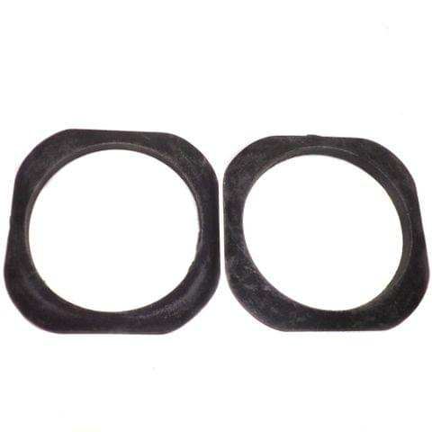 1 Pair Bangle Base Black 2.2 Inch