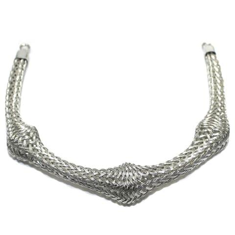 Necklace Collar Silver 8.5 Inch