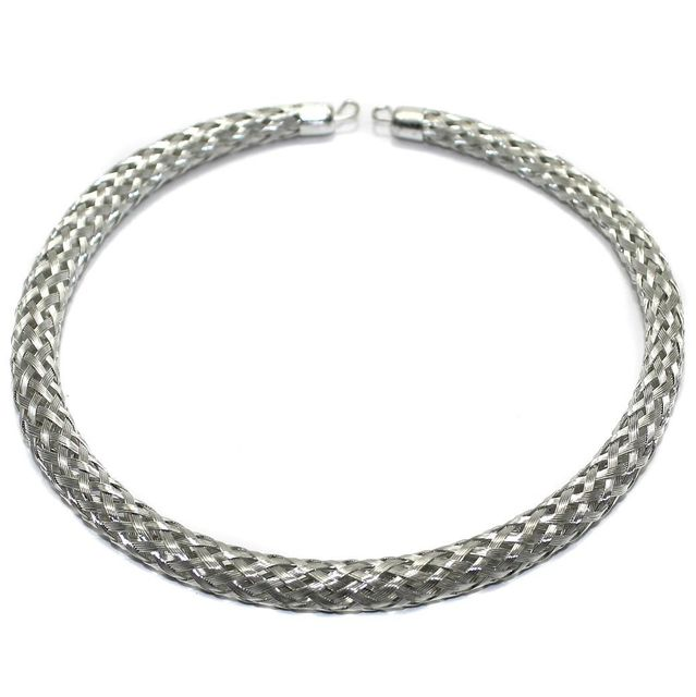 Necklace Collar Silver 14 Inch