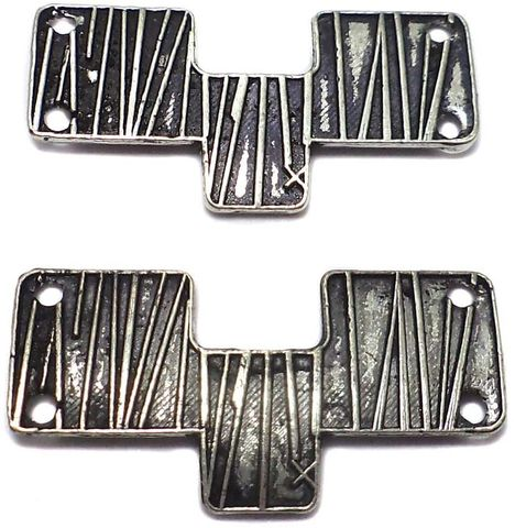 4 German Silver Connectors 30x10mm