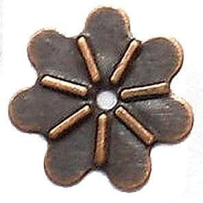 200 Metal Stamps Flower beads 10mm