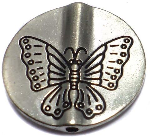 4 German Silver Discs Beads 23x23mm