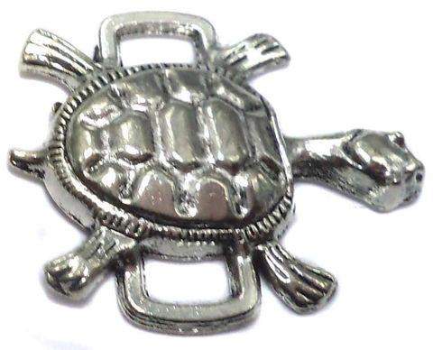 10 German Silver Tortoise Connectors 25x21mm
