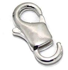 25 Pcs. Lobster Clasp Silver 14x7mm