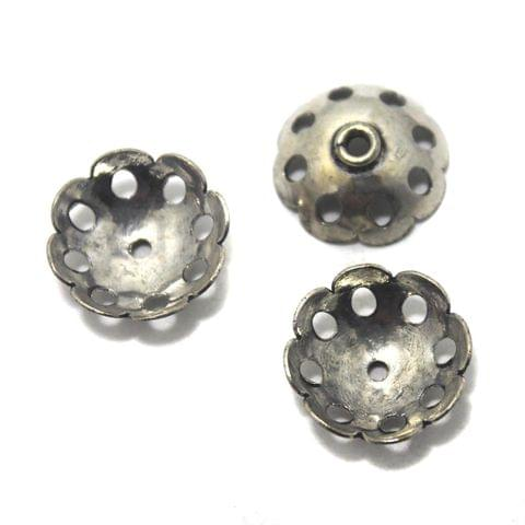 20 German Silver Beads Caps 10x15mm