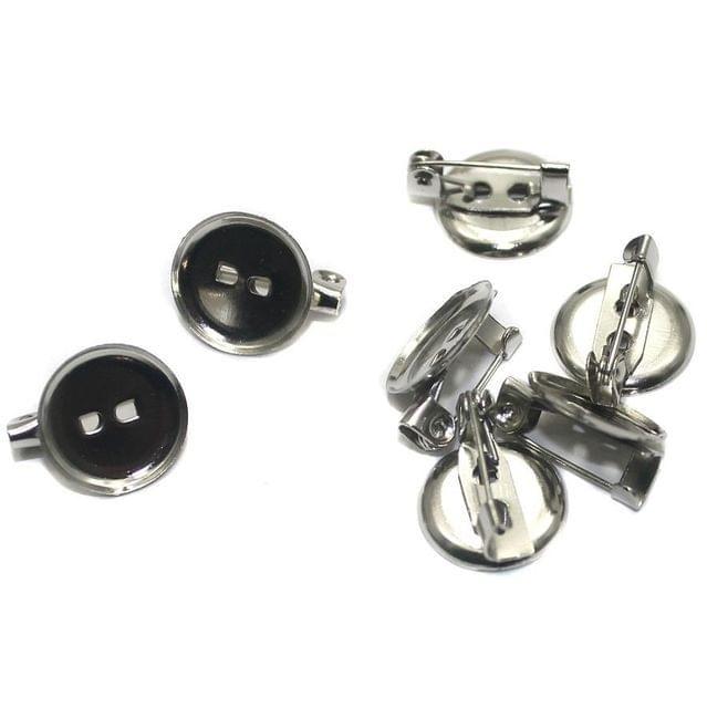 20 Brooch Pin Fittings 15x12mm