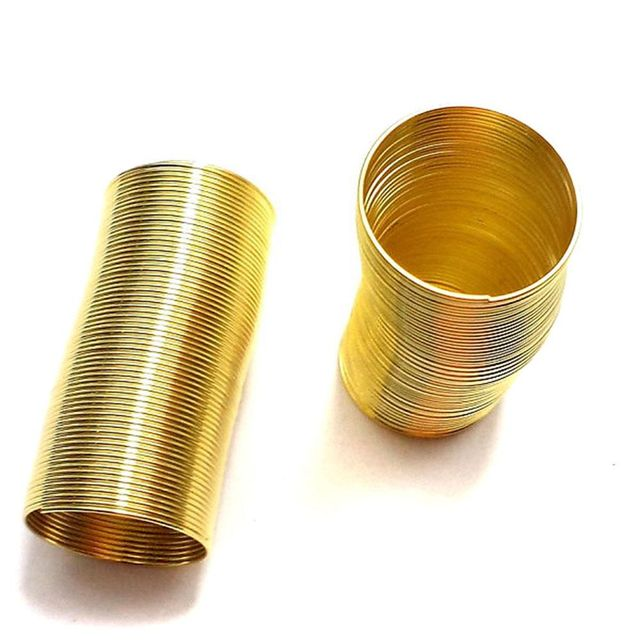 130 Row Golden Memory Wire For Finger Rings 18mm