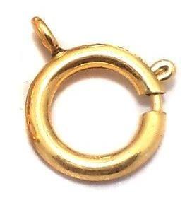 20 Pcs. German Silver Spring Ring Clasp Golden 18x16