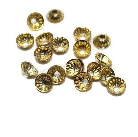 500 Metal Bead Caps Golden 5mm