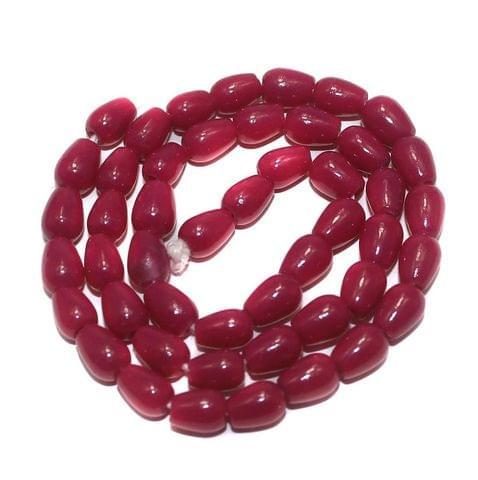 Jaipuri Beads Pink Drop 5 Strings 8x6mm