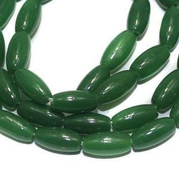 Jaipuri Beads Light Green Oval 5 Strings 8x6mm