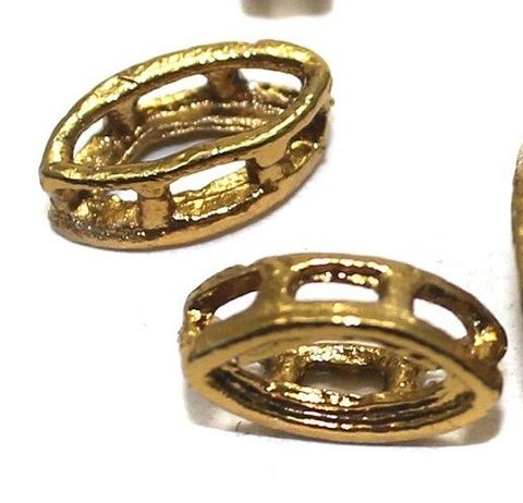 100 Earring Component Oval Golden 12x6 mm