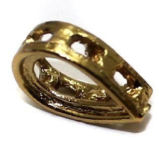 50 Pcs. Earring Drop Component Golden 12x8 mm