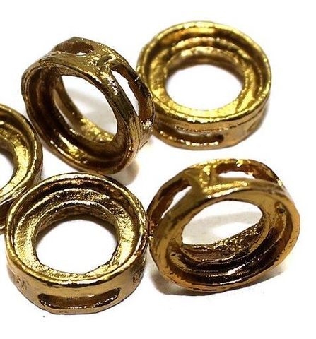 50 Earring Component Round Golden 12 mm