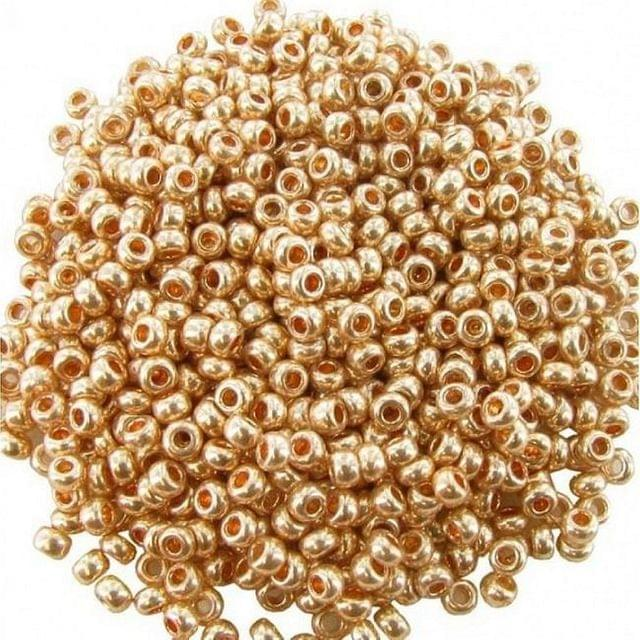100 Gm Seed Beads Metallic Rose Gold 11/0 Size