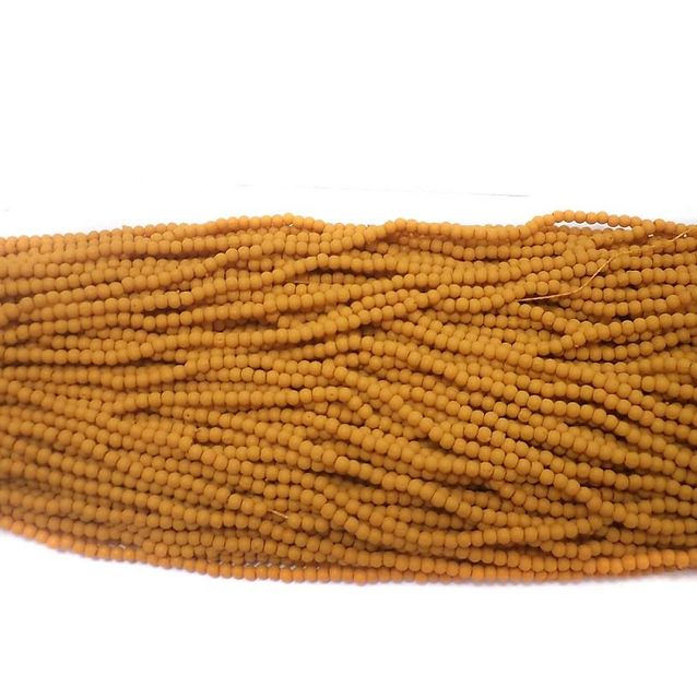 60 Strings Acrylic Round Beads Light Chocolate 2mm