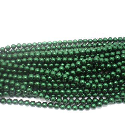 585+ Acrylic Round Beads Green 10mm