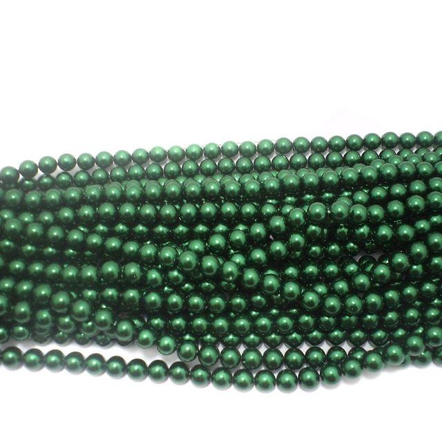 585+ Acrylic Round Beads Green 10mm
