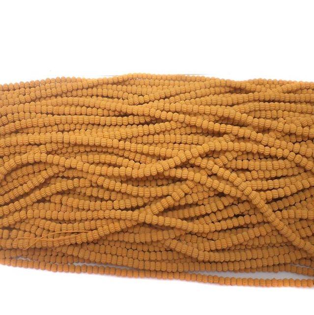 24 Strings Acrylic Kharbooja Beads Chocolate 2mm