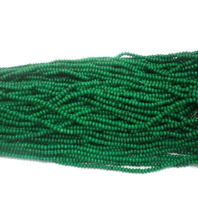 1140+ Acrylic Rondelle Beads Green 4x3mm