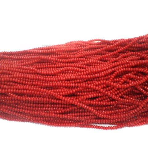 1140+ Acrylic Rondelle Beads Red 4x3mm