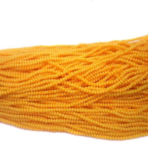 1140+ Acrylic Rondelle Beads Yellow 4x3mm
