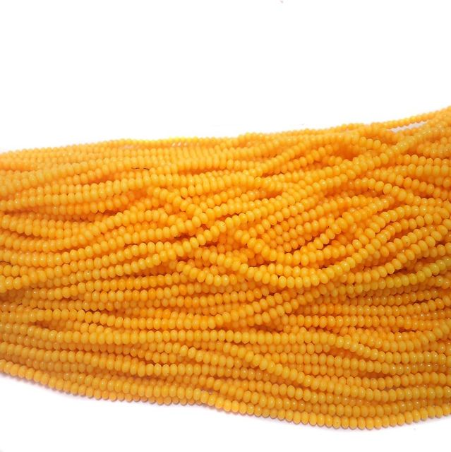 1140+ Acrylic Rondelle Beads Yellow 4x3mm
