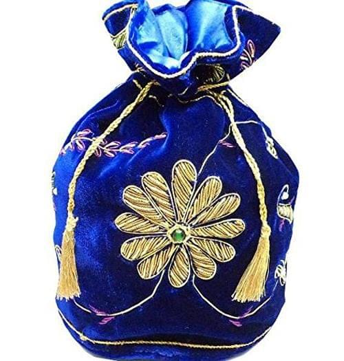 Zari Potli Blue 10 inch 1 Pc