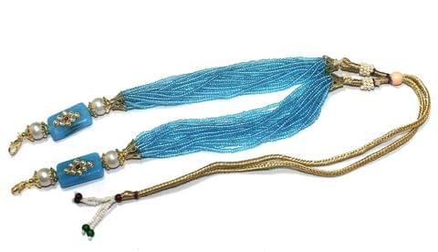Beaded Glass Necklace Dori Turquoise, Pack Of 1 Pc