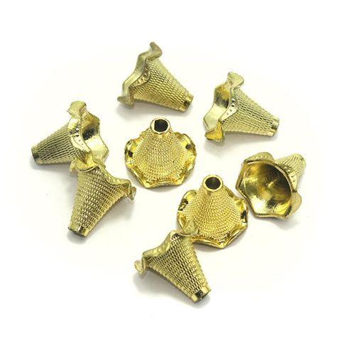 80 Acrylic Cone Beads Golden Finish 20mm