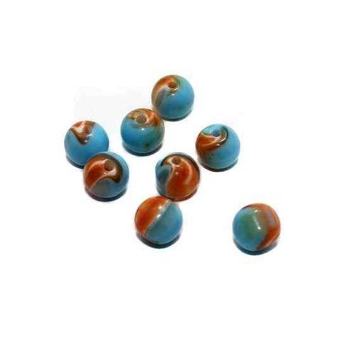 100 Acrylic Round Beads Turquoise 10mm
