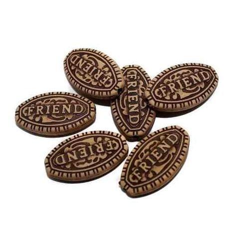 100 Friend Alphabet Beads 25x14mm