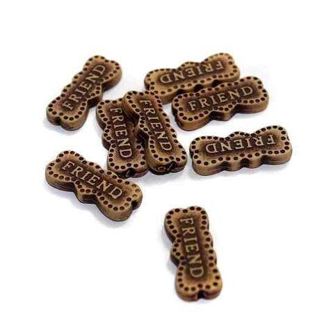 100 Friend Alphabet Beads 25x10mm