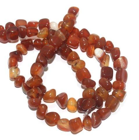 Tumble Onyx Stone Beads Multi Orange 9-11 mm, Pack Of 2 Strings
