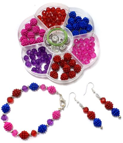 Kids Jewellery Making Acrylic Crystal Beads DIY Kit