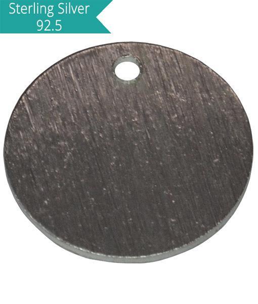 7mm Brushed Round Charm