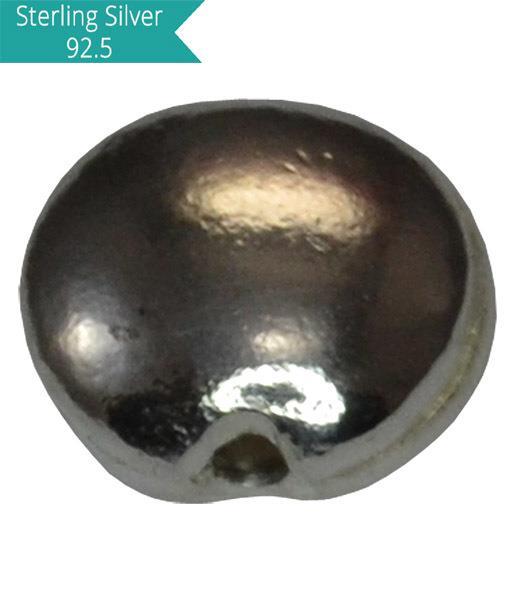 925 Silver Flat Round Bead
